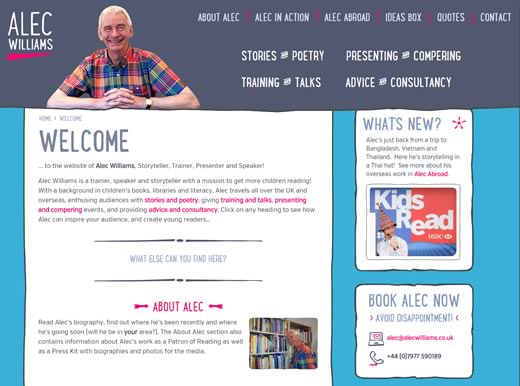 Alec Williams home page